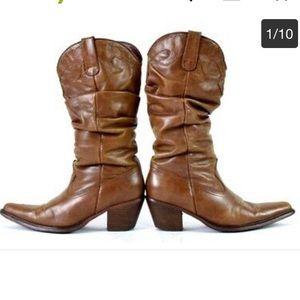 Steve Madden Shoes - Steve Madden  saddle cowboy boots sz8.5